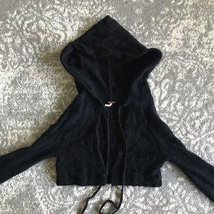 Free People Cropped Beaded Wool Sweater